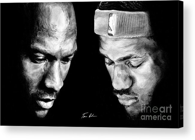 Lebron James Acrylic Print featuring the drawing The Next One by Tamir Barkan