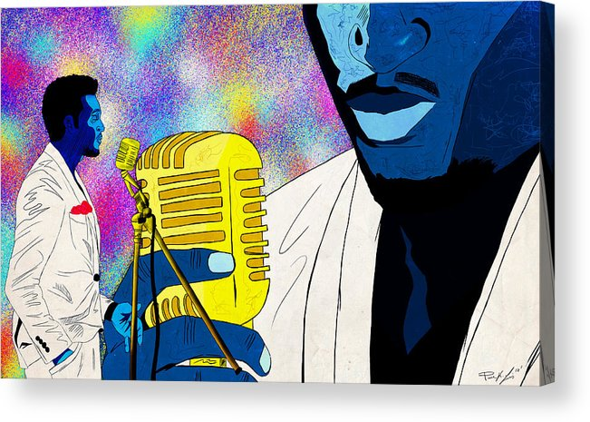 Art Of Soul Music Acrylic Print featuring the drawing The Soul Singer by Kenal Louis