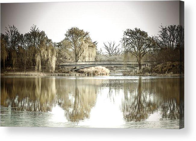 Landscape Acrylic Print featuring the photograph Winter Reflection Landscape by Julie Palencia