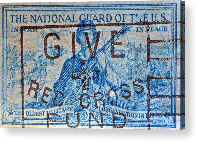 1953 Acrylic Print featuring the photograph 1953 The National Guard Of The U. S. Stamp by Bill Owen