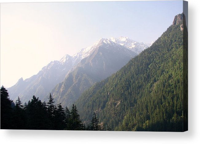 Splendors Of Himalayas---photography Portraits Acrylic Print featuring the photograph Splendors Of Himalayas by Anand Swaroop Manchiraju