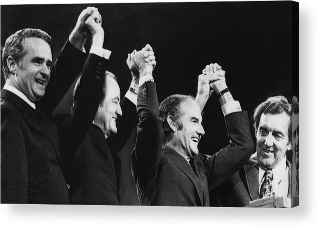 1970s Acrylic Print featuring the photograph Us Elections. From Left Us Senator by Everett