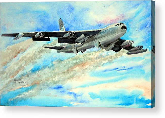 B-52 Acrylic Print featuring the painting B-52 by Leslie Hoops-Wallace