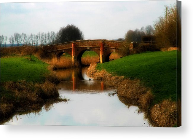 Bridge Acrylic Print featuring the photograph Bridge Reflection by Jessica Annalee