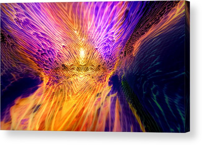 Digital Acrylic Print featuring the mixed media Radiant Flow by Jason Fish