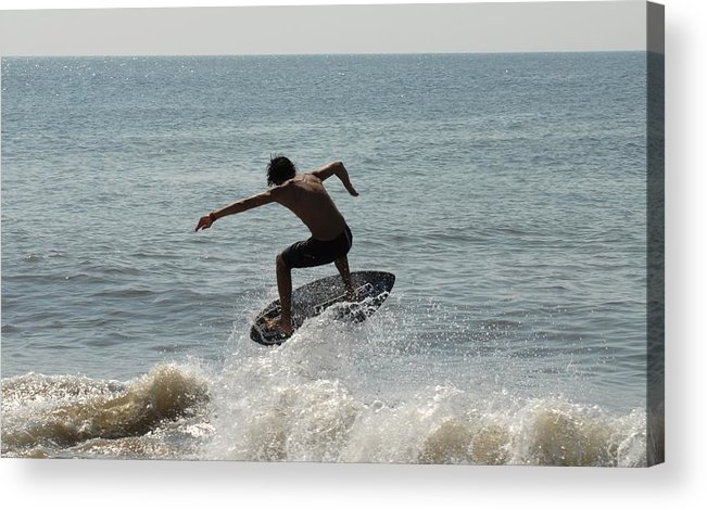 Kite Surfing Acrylic Print featuring the photograph Skimboarding 56 by Joyce StJames