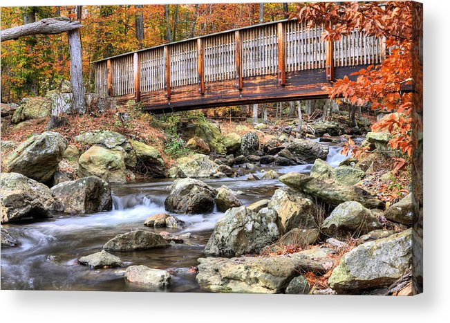Cunningham Falls Acrylic Print featuring the photograph The Walk by JC Findley