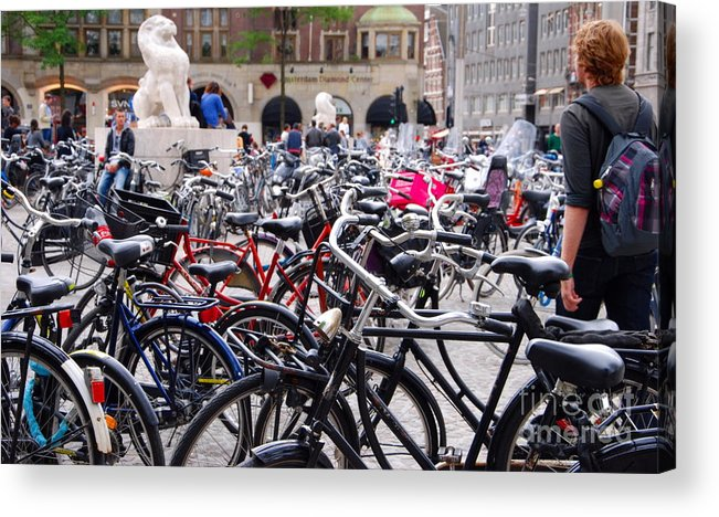 Bikes Acrylic Print featuring the photograph Where's My Bike by Andrea Simon