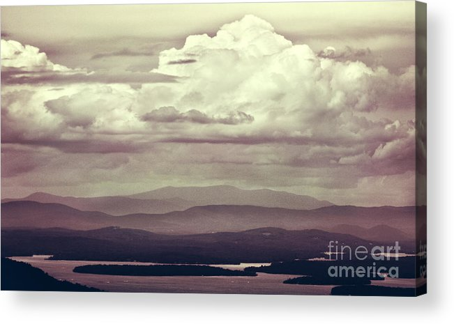 Mountains Acrylic Print featuring the photograph Words Mean More At Night by Dana DiPasquale
