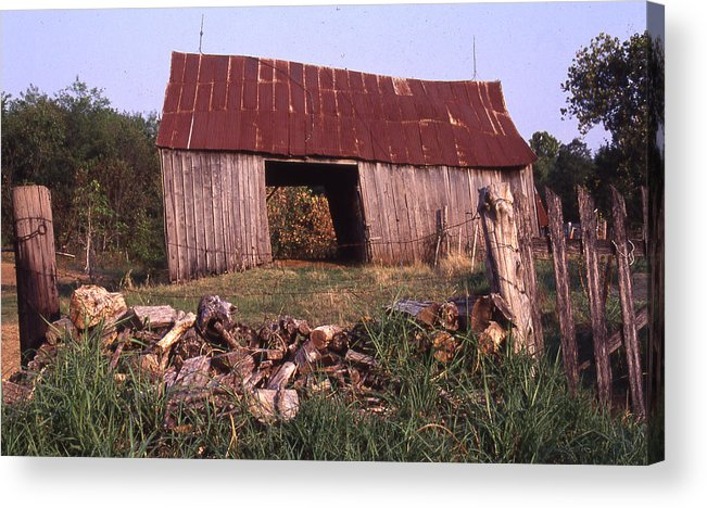 Acrylic Print featuring the photograph Lloyd Shanks Barn 4 by Curtis J Neeley Jr