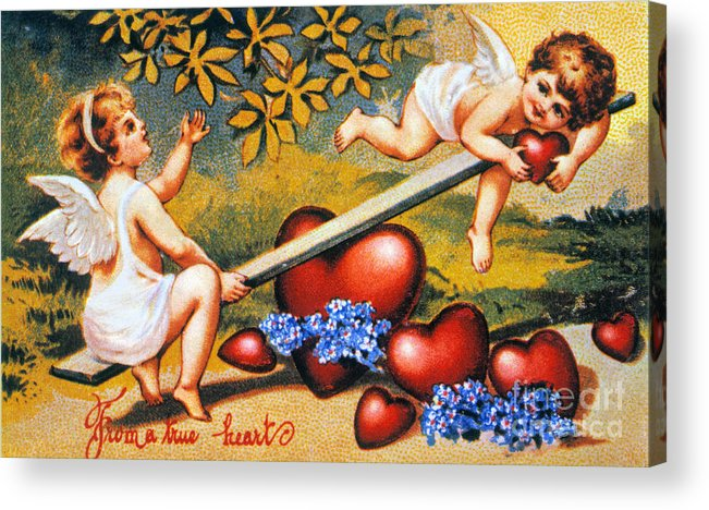 1900 Acrylic Print featuring the photograph Valentines Day Card by Granger