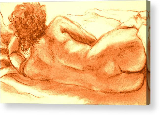 Sketcht Acrylic Print featuring the painting Studio Sketch by Dan Earle