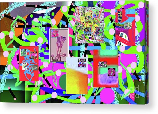 Walter Paul Bebirian Acrylic Print featuring the digital art 3-3-2016abcdefghijklmnopqrtuvwxyzabcdefg by Walter Paul Bebirian