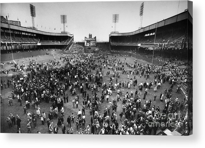 1957 Acrylic Print featuring the photograph New York: Polo Grounds by Granger
