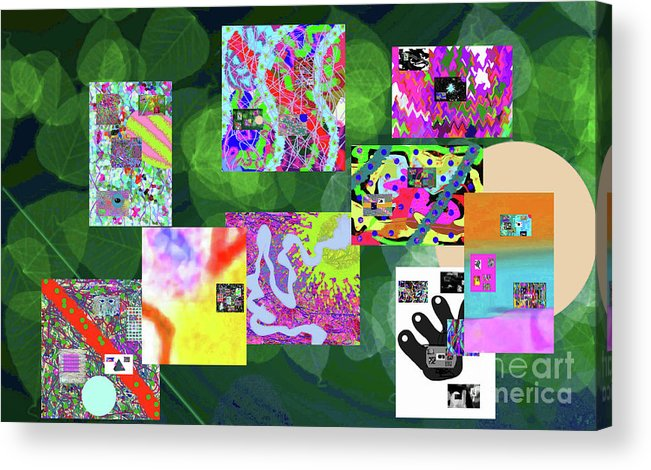 Walter Paul Bebirian Acrylic Print featuring the digital art 5-25-2015cabcdefghijklmnopqrtuvwxyzabcdefg by Walter Paul Bebirian