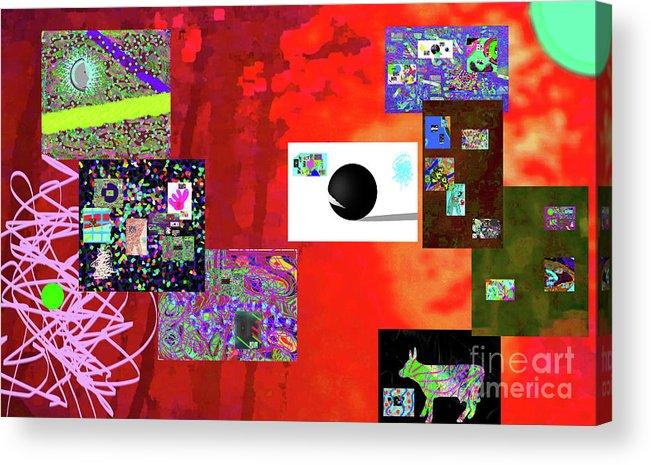 Walter Paul Bebirian Acrylic Print featuring the digital art 7-30-2015fabcdefghijklmn by Walter Paul Bebirian