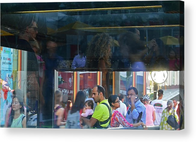 Street Photography Acrylic Print featuring the photograph Abstract Street by Kevin Myron
