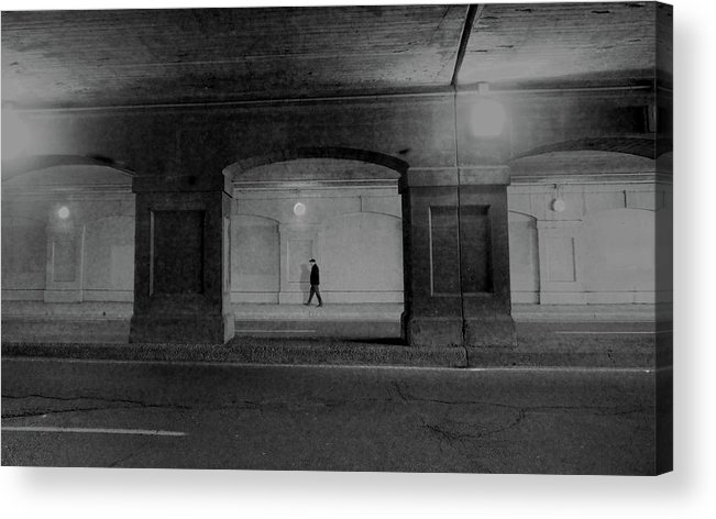 Street Acrylic Print featuring the photograph Alone by David Pantuso