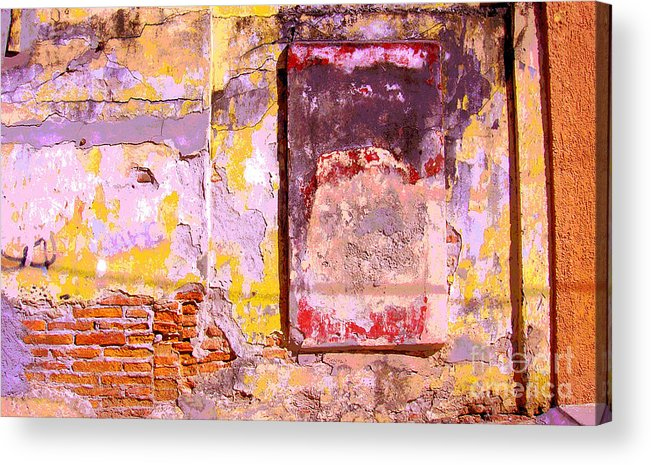 Michael Fitzpatrick Acrylic Print featuring the photograph Ancient Wall 7 By Michael Fitzpatrick by Mexicolors Art Photography