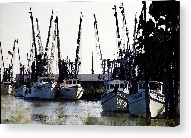 Landscape Acrylic Print featuring the photograph At Rest Watercolor by Michael Morrison
