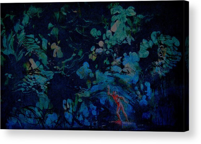 Scenery Acrylic Print featuring the painting Ballet Design by Terrell Gates