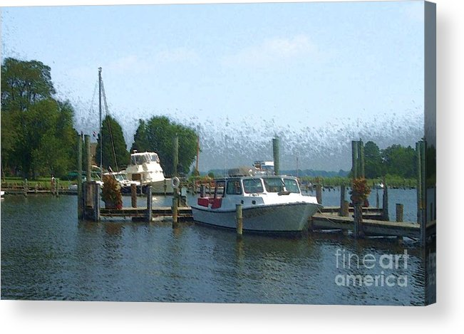 Boat Acrylic Print featuring the photograph Beached Buoys by Debbi Granruth