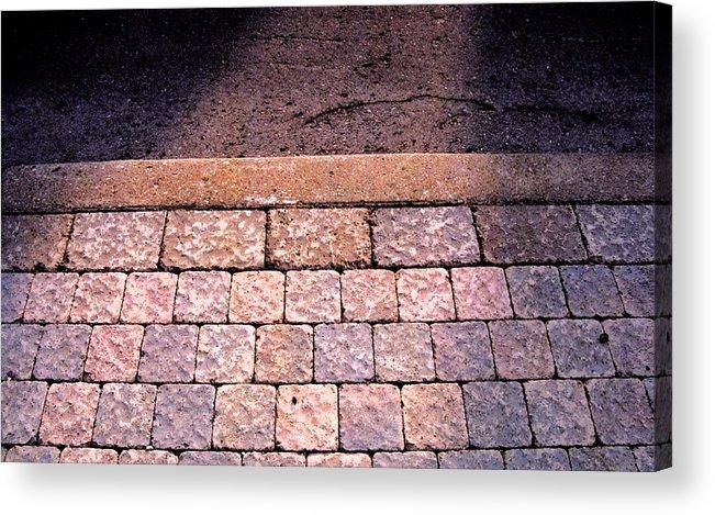 Sidewalk Acrylic Print featuring the photograph Brick Sidewalk 3 Wc by Lyle Crump