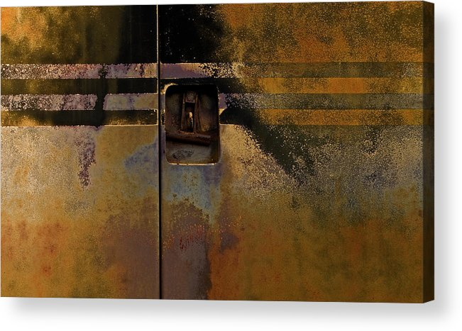 Machine Acrylic Print featuring the photograph Doors And Stripes by Murray Bloom