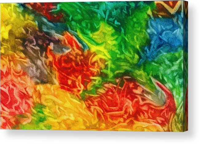 Abstract Acrylic Print featuring the painting Fire And Ice by Katina Cote
