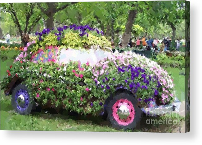 Cars Acrylic Print featuring the photograph Flower Power by Debbi Granruth