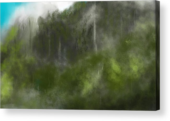 Digital Art Acrylic Print featuring the digital art Forest Landscape 10-31-09 by David Lane