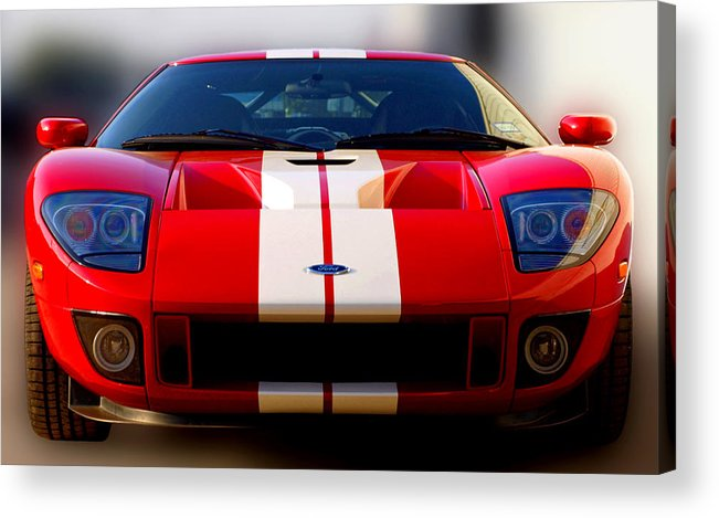 Ford Gt Acrylic Print featuring the photograph Front Ford Gt by James Granberry