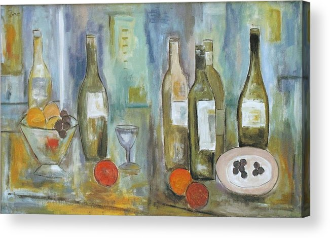 Abstract Acrylic Print featuring the painting Happy Hour II by Trish Toro