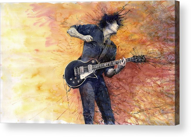 Figurativ Acrylic Print featuring the painting Jazz Rock Guitarist Stone Temple Pilots by Yuriy Shevchuk