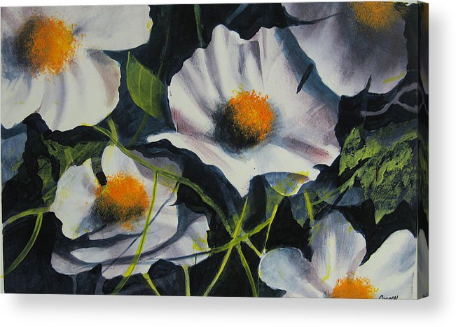 Floral Acrylic Print featuring the painting More Poppies by Robert Carver