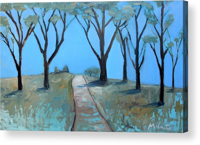 Trees Acrylic Print featuring the painting Morning Sunrise by Rudy Milante