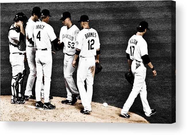 Baseball Acrylic Print featuring the photograph My Rock Collection - Colorado Rockies by Marilyn Hunt