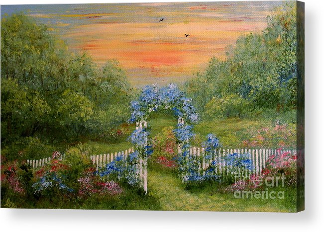 Paradise Acrylic Print featuring the painting Paradise by Leea Baltes