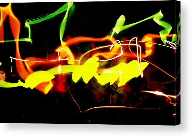 Abstract Acrylic Print featuring the photograph Photo Fun Two by Ronald Walker