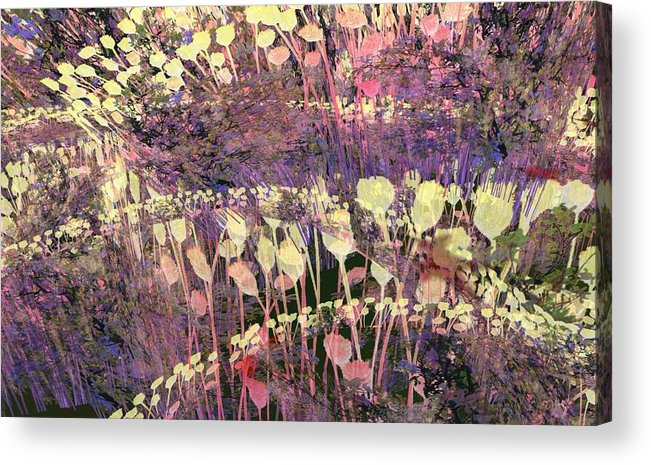 Digital Acrylic Print featuring the digital art Riotous Spring by Thomas Smith