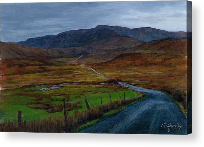 Landscape Acrylic Print featuring the painting Road To Glenveagh by Laurie McGinley