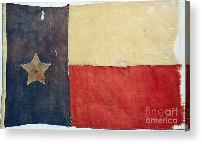 1842 Acrylic Print featuring the photograph Texas Flag, 1842 by Granger