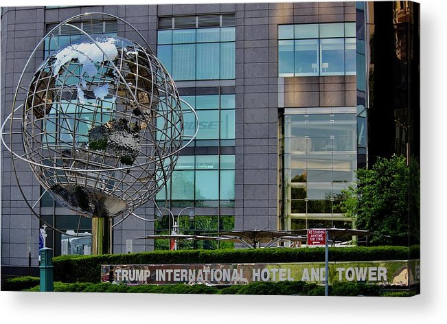 Building Acrylic Print featuring the photograph The World In New York by Lorna Maza