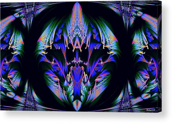 Digital Art Acrylic Print featuring the photograph Tribal Fractal by Evelyn Patrick