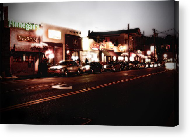 Long Island Acrylic Print featuring the photograph Wall Street by Michael Simeone