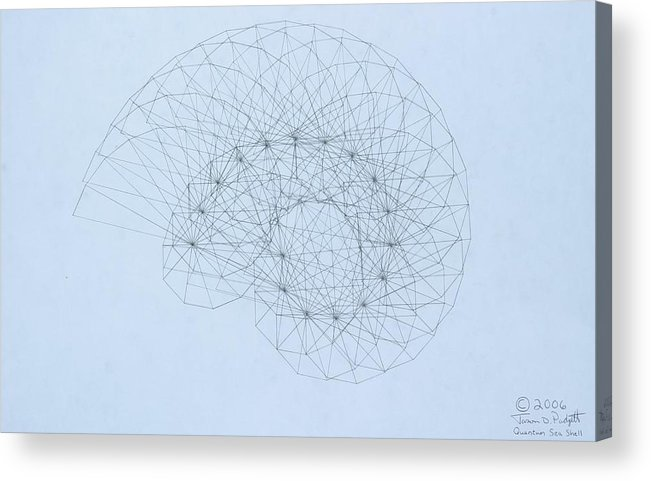 Jason Padgett Acrylic Print featuring the drawing Quantum Nautilus by Jason Padgett