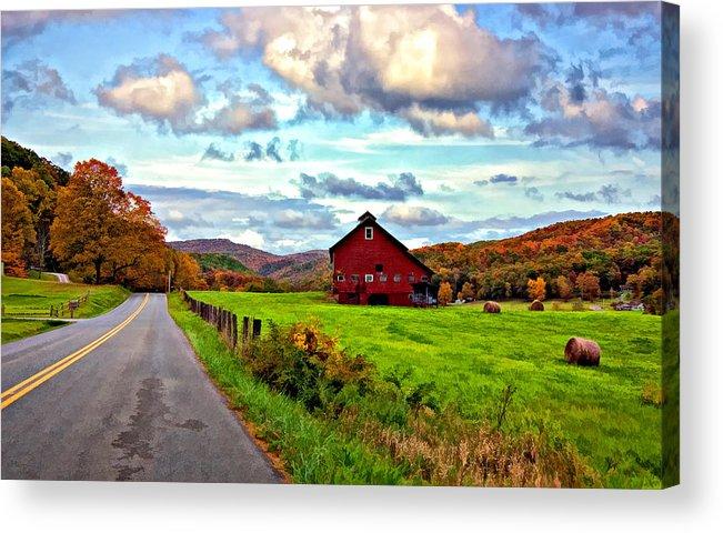 West Virginia Acrylic Print featuring the photograph Ah...west Virginia Painted by Steve Harrington