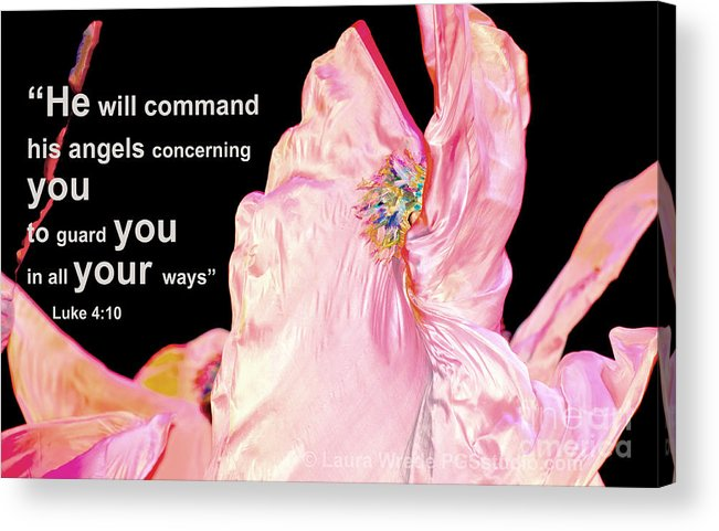 Angels Acrylic Print featuring the photograph Angels Will Guard You by Artist and Photographer Laura Wrede