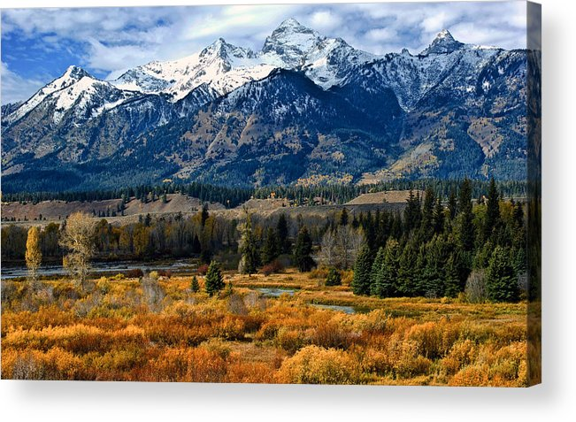 Mountain Acrylic Print featuring the photograph Autumn In The Tetons by Brian Kerls