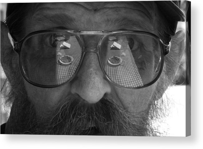 Reflection Acrylic Print featuring the photograph Between Smokes by Darryl Kravitz
